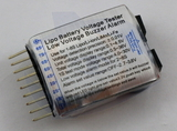 RMRC Battery Voltage Tester - With Audio Alarm LiPo 1-8s