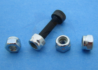 Nylon-Insert Hex Locknuts, M3 (4pcs)