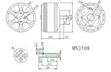 Tiger Motor MN3508-20 - KV 580, 41.8mm x 26.5mm, 220g