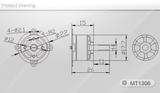 Tiger Motor MT1306-10 - KV 3100 V2.0