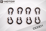 C-Clips - For 3.175mm Motor Shafts (10pcs)