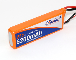 RMRC Orange Series - 6200mAh 3S 25C Lipo - XT60 (68.82Wh)