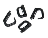 STRIX D-Clips for Tactical Flight Pack - Black (4 PCS)