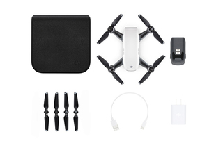 DJI SPARK QUADCOPTER FLY MORE COMBO ALPINE WHITE