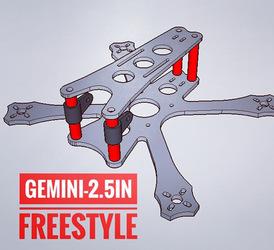 "Twin Quad Frames - 2.5"" Gemini Freestyle Kit"