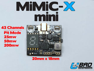 MiMiC-X Mini Video Transmitter 25mw-50mw-200mw