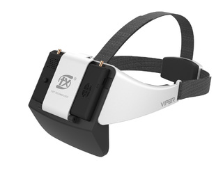 viper fxt goggles white black fpv monitor video front right