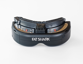 FatShark HD2 T2 Terminator Goggles - Limited Edition Black Chrome Silver Front