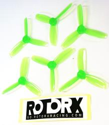 "RotorX 3044TX - 'X Mount' 3"" tri prop - Neon Green"