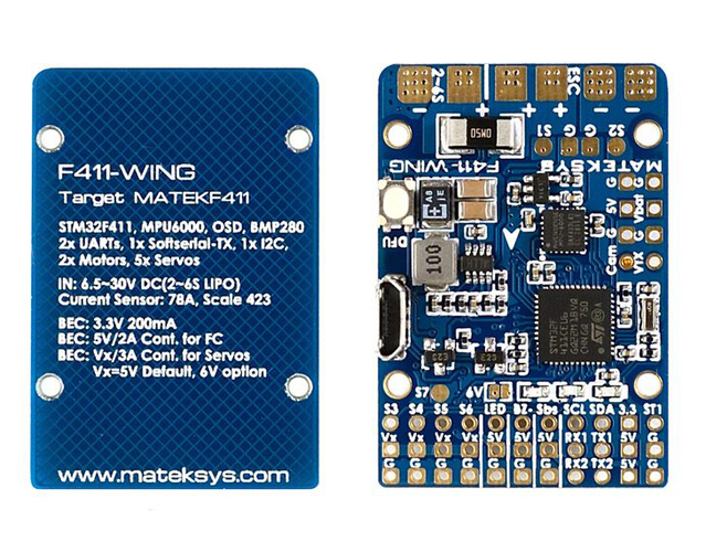 Matek Wing F411 Compact Flight Controller with OSD for iNAV