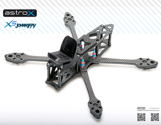 AstroX X5 JohnnyFPV Black w/Full Plastic Pack