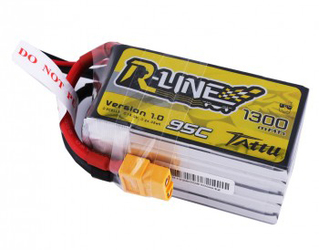 Tattu R-line 5S 1300mah 95c Lipo Battery Pack with XT60 Plug