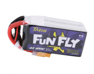 Tattu FunFly 1300mAh 100C 14.8V 4S1P Lipo Pack with XT60