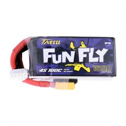 Tattu FunFly 1550mAh 100C 14.8V 4S1P Lipo Pack with XT60