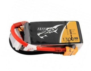 Tattu 1300mAh 45C 3S1P 11.1V Lipo Battery Pack with XT60 Plug