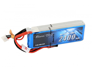 Gens Ace 2400mAh 7.4V 2S1P Lipo Pack with JST-SYP Plug