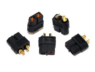 XT60 Black - Female (Male Housing, Female Bullet) 5 Pcs