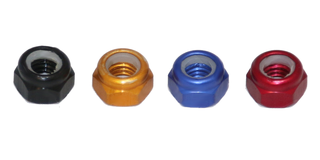 RMRC - M5 CW Aluminum Lock Nut - Orange (4pc)