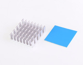 Heat Sink with Adhesive Backing - 20x20x8mm
