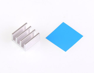 Heat Sink with Adhesive Backing - 14x14x8mm