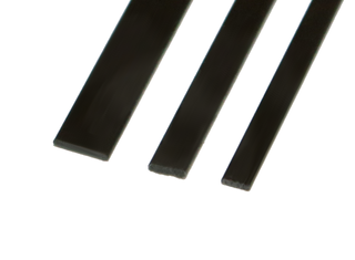 Carbon Fiber Flat Strip: 4mm x 1mm, 1m Long