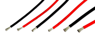 Premium Silicone Wire - 12ga Black 1m