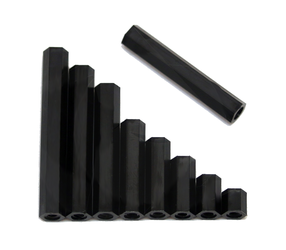 RMRC - Black Nylon M3 Standoff - 25mm (4pc)