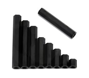 RMRC - Black Nylon M3 Standoff - 6mm (4pc)