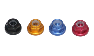 RMRC - M5 CCW Aluminum Flange Lock Nut - Red (4pc)
