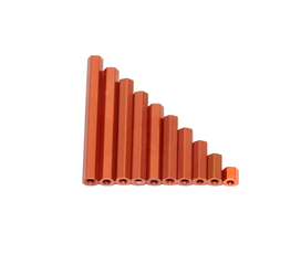 RMRC M3 Alu Hex Standoff Orange - 10mm (4pcs)