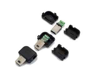 Mini USB 10 Pin Male Right Angle Connector 1pc (with housing)