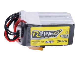 Tattu R-Line 850mAh 14.8V 95C 4S1P Lipo with XT60