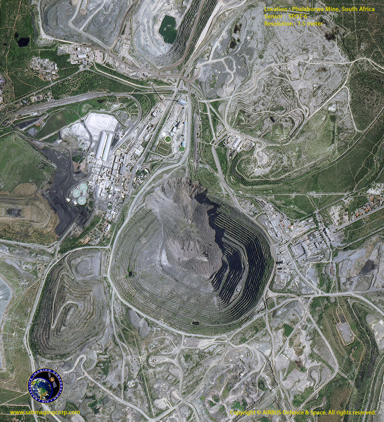 SPOT-6 Satellite Image Phalamorwa Mine South Africa