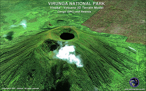 Virunga National Parks - (3D) o modelos de elevación digital DEM