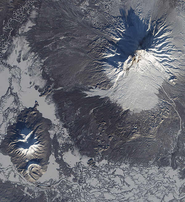 Landsat 8 Satellite Image of Kamchatka Peninsula