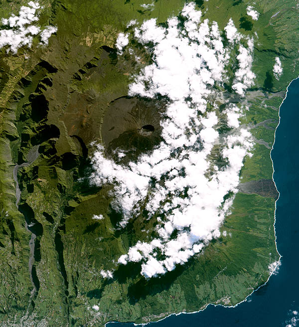 SPOT-7 Satellite Image of Reunion Island