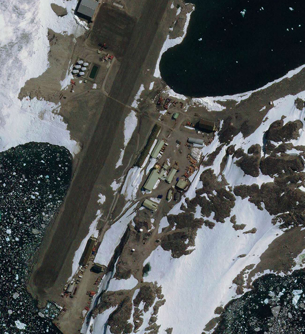 GeoEye-1 Satellite Image Rothera Research Station, Antarctica