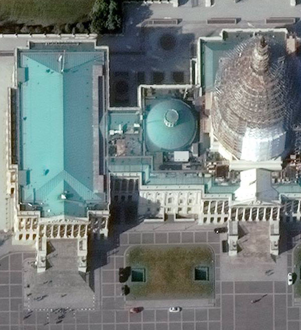 WorldView 3 Satellite Image Us Capitol Washington DC