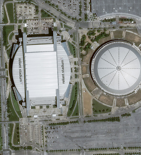 Pleiades Satellite Image NRG Stadium Houston TX