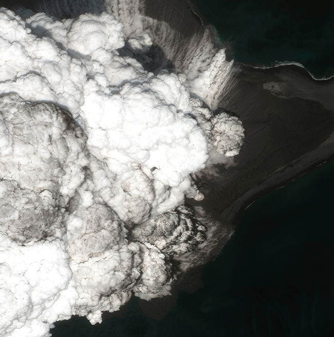 WorldView-3 Satellite Photo Bogoslof Volcano Alaska