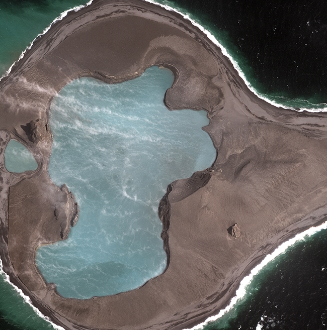 WorldView-3 Satellite MAp Bogoslof Volcano Aleutian Island