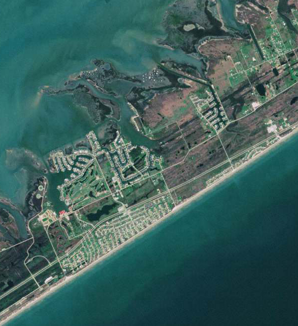 Sentinel-2A Satellite Image of Galveston, Texas