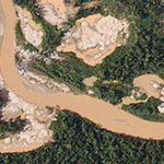 Dove Satellite Map Illegal Mining Peru
