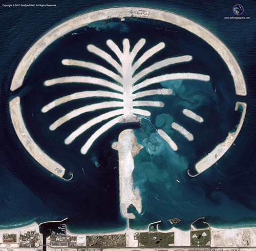 Middle East Map of Palm Islands (IKONOS)