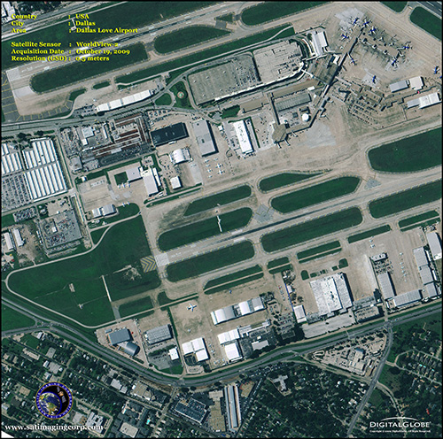 WorldView-2 Satellite Image of Dallas Love Airport
