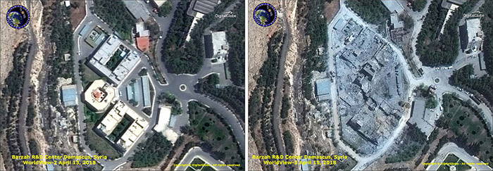 Syria Bazrah Research Facility Missile Damage