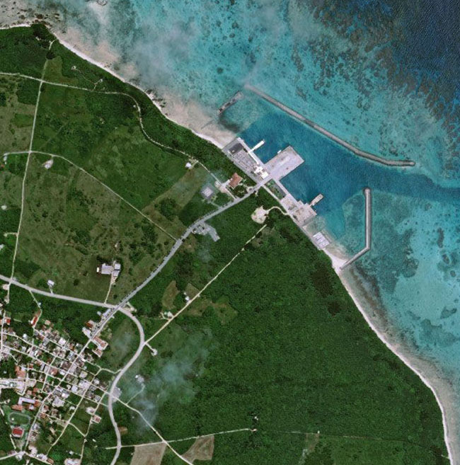 Satellite Photo Taketomi Island