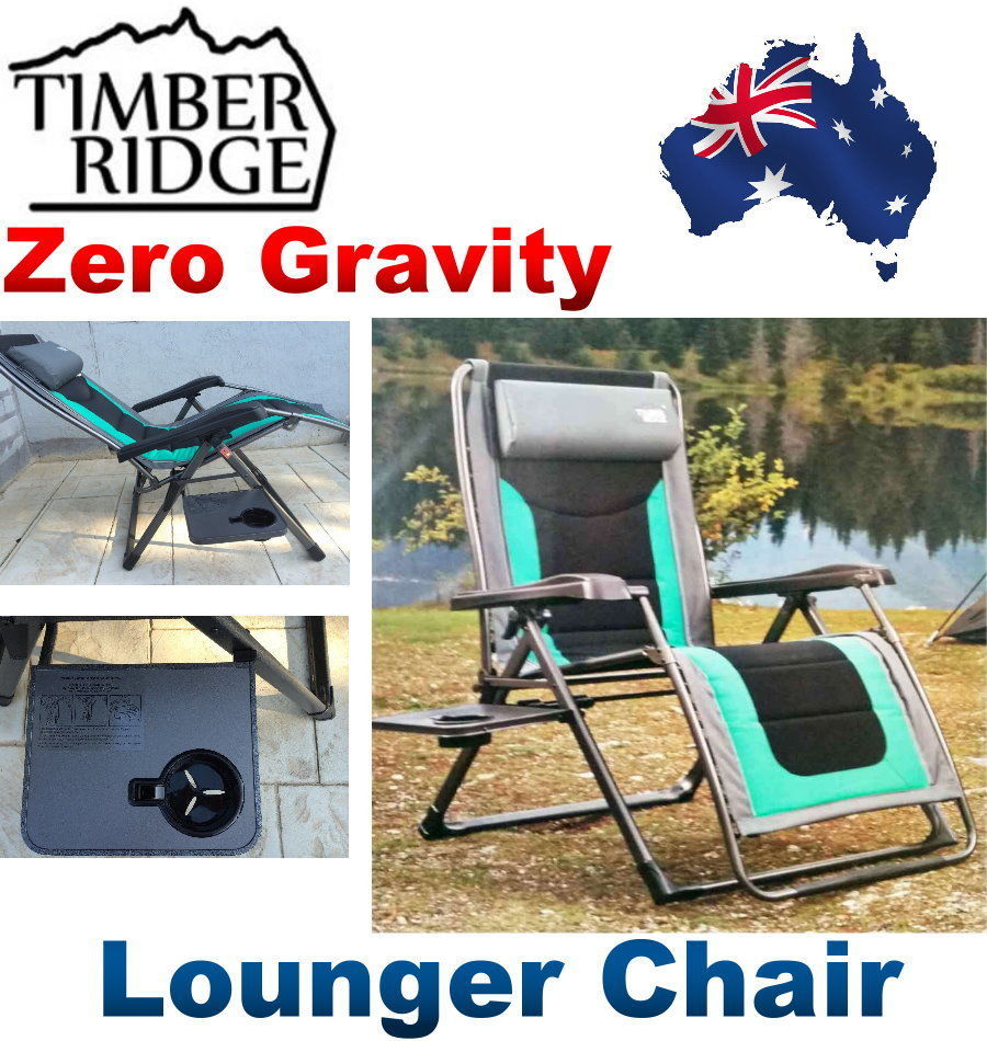 Timber Ridge Zero Gravity Lounge Chair With Side Table New