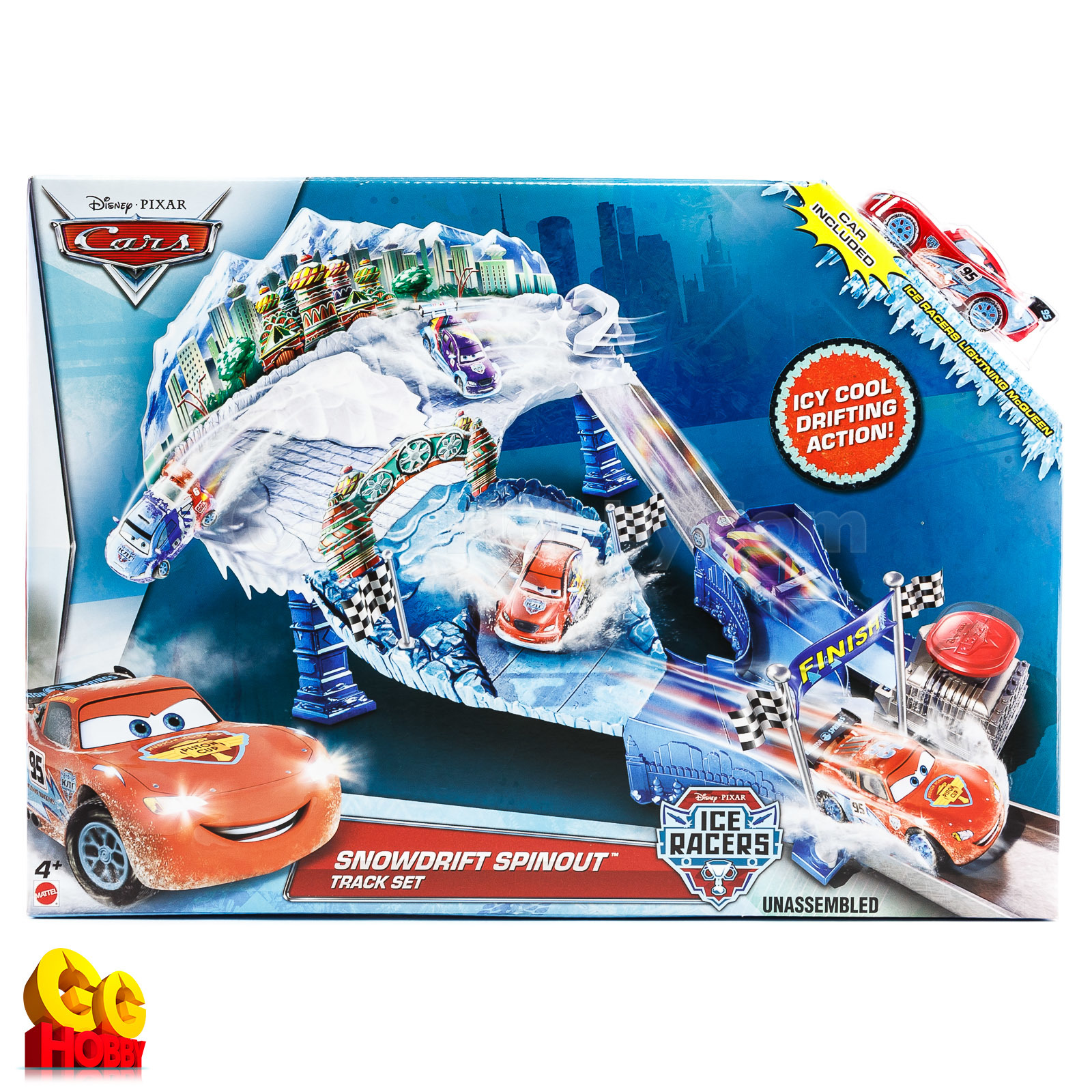 Disney Cars Ice Racers Snowdrift Spinout Track Set PlaySet
