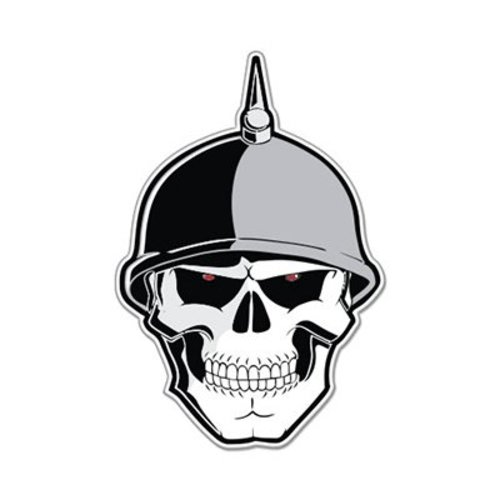 German soldier skull scary war evil car vinyl